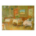 El interior de Van Gogh de un restaurante Tarjetas Postales