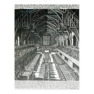 El interior de Westminster Hall Tarjeta Postal