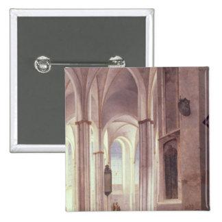 El interior del Buurkerk en Utrecht, 1644 Pin Cuadrada 5 Cm
