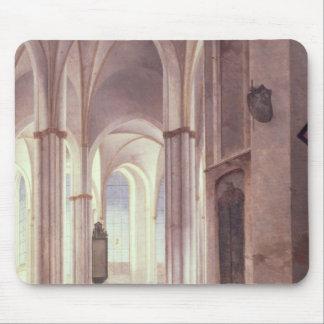 El interior del Buurkerk en Utrecht 1644 Alfombrillas De Ratón