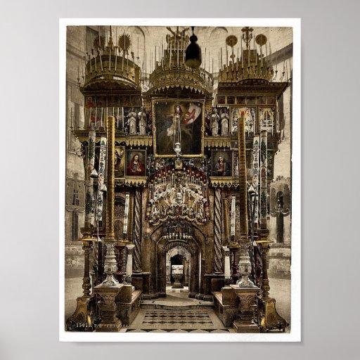 El interior del sepulcro santo, Jerusalén, HOL Poster