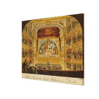 El interior del teatro real en Dresden Impresión En Lona Estirada