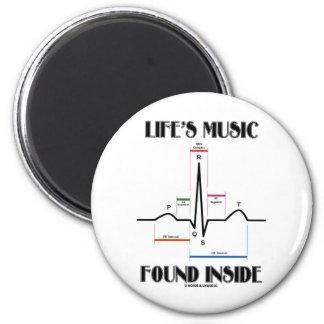 El interior encontrado música de la vida (latido imán redondo 5 cm