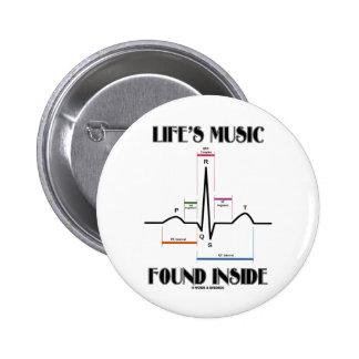 El interior encontrado música de la vida (latido pins