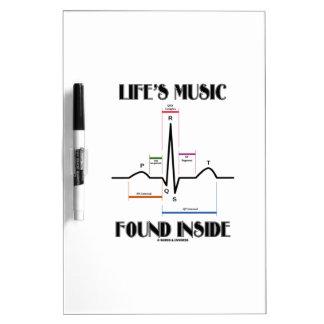 El interior encontrado música de la vida (latido tableros blancos