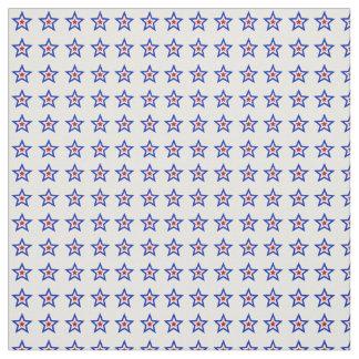 El interior rojo de las estrellas blancas y azules telas