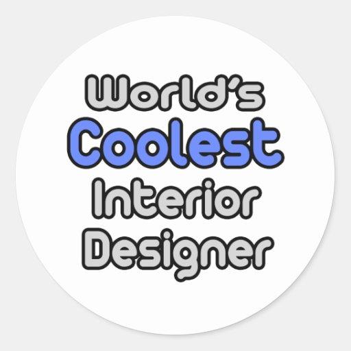 El interiorista más fresco del mundo pegatina redonda