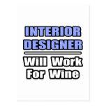 El interiorista… trabajará para el vino tarjeta postal
