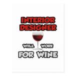 El interiorista… trabajará para el vino tarjetas postales