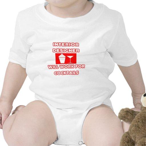 El interiorista… trabajará para los cócteles trajes de bebé