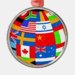 el international señala la tierra del globo por me ornamente de reyes