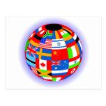 el international señala la tierra del globo por me tarjeta postal
