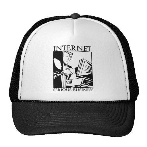 El Internet es negocio serio Gorras