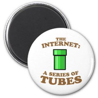 el Internet - it�s a las series de tubos - ted ste Imanes Para Frigoríficos