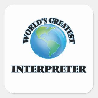 El intérprete más grande del mundo pegatinas cuadradas