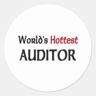 El interventor más caliente de los mundos pegatina redonda