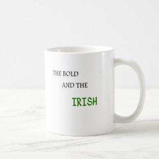 El intrépido y el irlandés taza de café