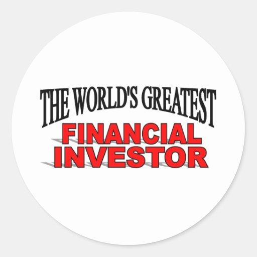 El inversor financiero más grande del mundo pegatinas redondas