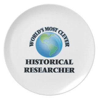 El investigador histórico más listo del mundo plato de comida