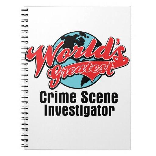 El investigador más grande de la escena del crimen libro de apuntes