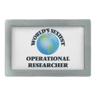 El investigador operativo más atractivo del mundo hebilla cinturón rectangular