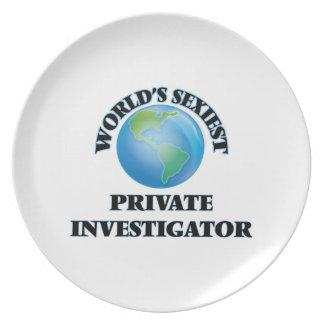 El investigador privado más atractivo del mundo plato de cena