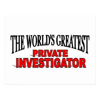 El investigador privado más grande del mundo tarjeta postal