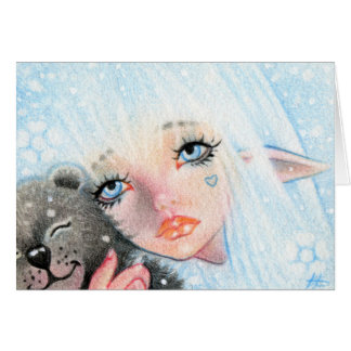 El invierno abraza Elve con la tarjeta del oso de