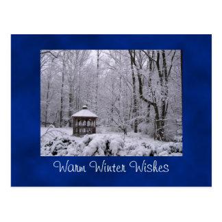 El invierno caliente desea la postal