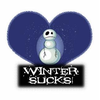 el invierno chupa el muñeco de nieve del emo escultura fotografica