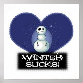 el invierno chupa el muñeco de nieve del emo impresiones