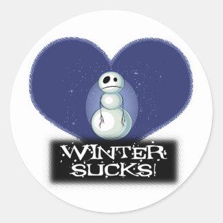 el invierno chupa el muñeco de nieve del emo pegatina