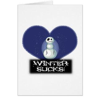 el invierno chupa el muñeco de nieve del emo