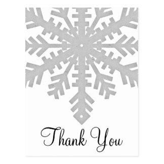 El invierno de plata del copo de nieve le agradece tarjetas postales