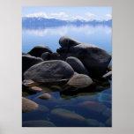 El invierno del lago Tahoe todavía riega Posters
