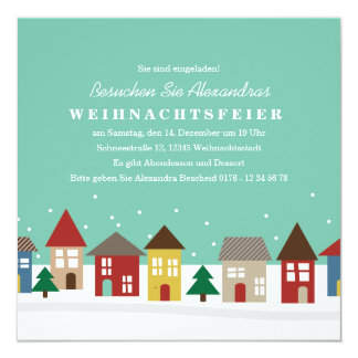 El Invierno-Einweihungsparty de Kleine Häuser Comunicados Personalizados