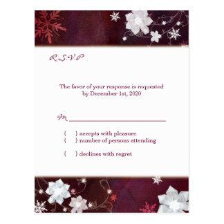 El invierno elegante brilla Merlot RSVP que se Tarjeta Postal