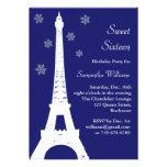 El invierno en el cumpleaños de París invita al añ Invitaciones Personales