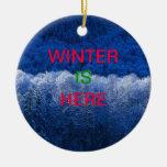 el invierno está aquí ornamento adornos