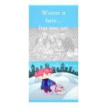 El invierno está aquí… Tarjeta de la foto Tarjeta Fotográfica