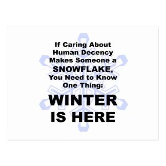 El invierno está aquí tarjeta postal