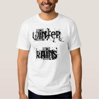 el invierno llueve la camiseta playeras