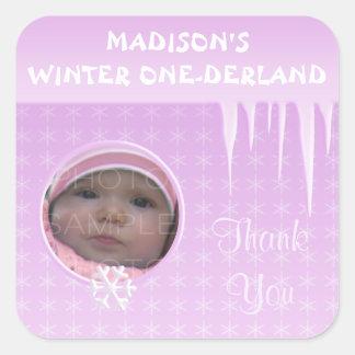 El invierno Onederland del chica del cumpleaños le