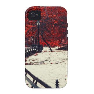 El invierno resuelve la caída en Central Park NYC Vibe iPhone 4 Carcasa
