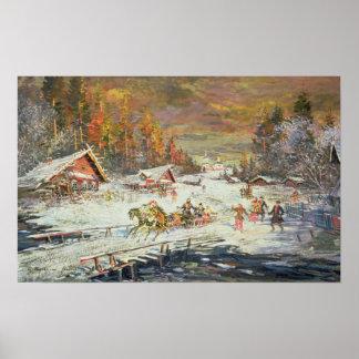 El invierno ruso, 1900-10 posters