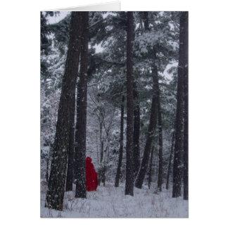 El invierno sazona saludos tarjeta de felicitación