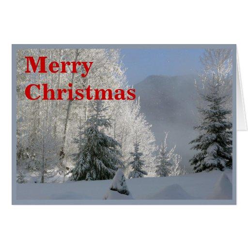 El invierno soña la tarjeta de las Felices Navidad