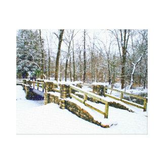 """El """"invierno soña """" lienzo envuelto para galerias"""