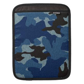 El iPad militar azul de Camo envuelve vertical Mangas De iPad
