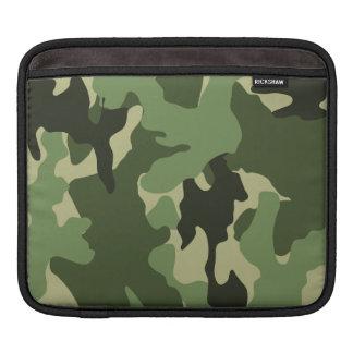 El iPad militar verde de Camo envuelve horizontal Funda Para iPads